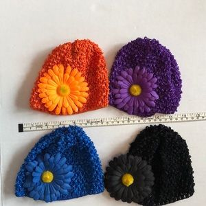 Other - 4 crocheted Baby/infant hats